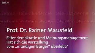Elitendemokratie und Meinungsmanagement - Prof. Dr. Rainer Mausfeld 02.12.2018 - Bananenrepublik
