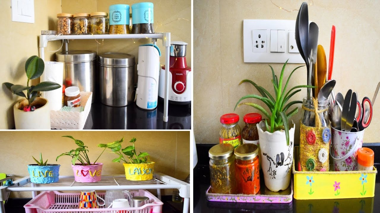 Indian Rented Kitchen Tour Counter Top Organization Decoration Ideas At Very Low Budget Diy S Youtube