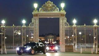 サルマン サウジアラビア王国国王陛下車列 迎賓館を出て首脳会談へ King of Saudi Arabia Motorcade 2017/3/13