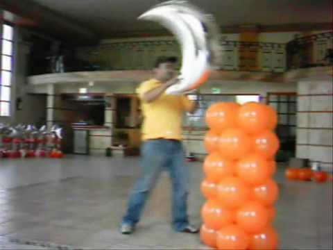 Decoracion con globos columna sin estructura youtube - Decoracion columnas salon ...