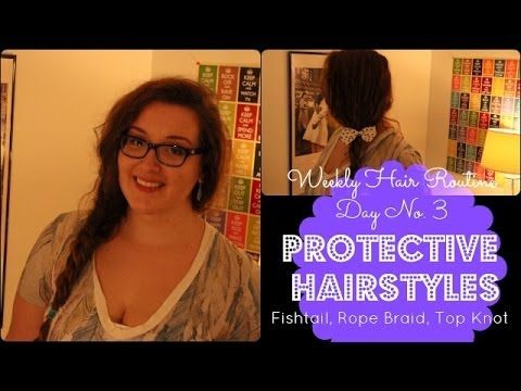Easy Fishtail Rope Braid For Curly Hair Protective Hairstyles