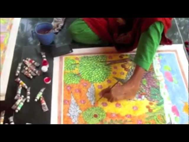 Mouth Foot Painting Artist Swapna Augustine Youtube