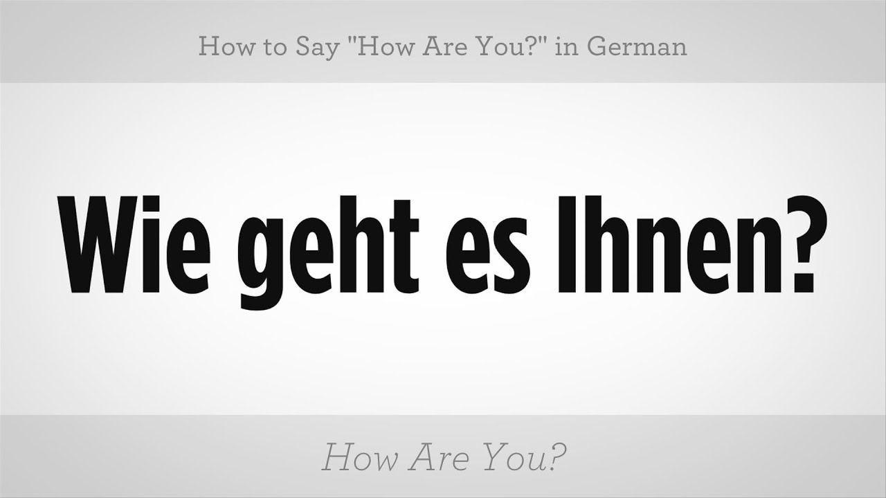 how do you say nice to meet in german