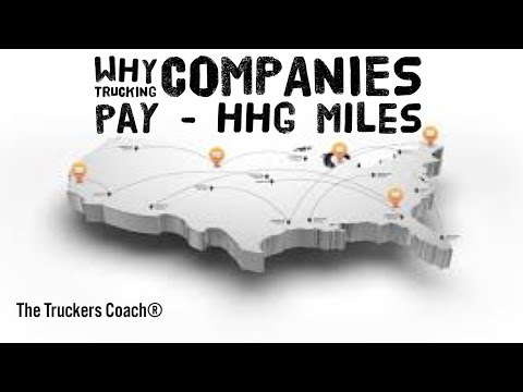 Why do Trucking Companies pay HHG or Zip-code Miles to Truck Drivers