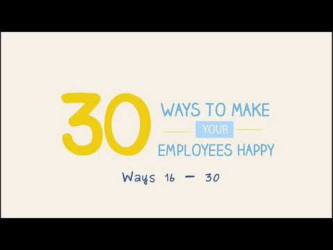 30 Ways To Make Your Employees Happy - Learn Through Images (Episode 3 Part 2)