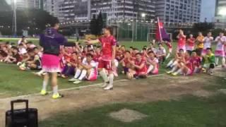 洪楚南老師致詞 ~ 樂善堂梁植偉紀念中學足球校隊成立30週年