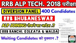 ALP Diversion Panel | Rrb Bhubaneswar Alp diversion panel | SER zone Alp | ECoR assistant loco pilot