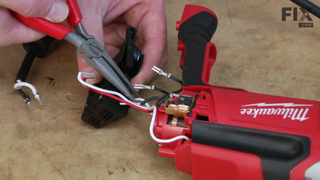 milwaukee corded drill repair how to replace the switch [ 1280 x 720 Pixel ]
