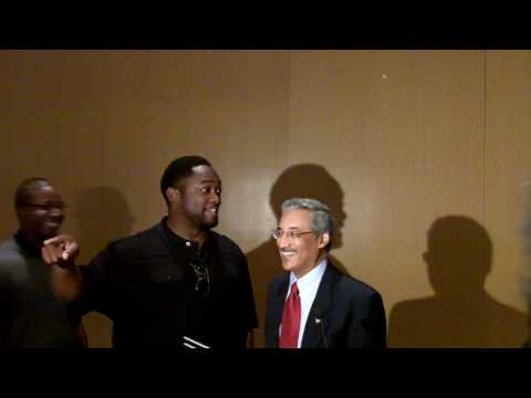 Congressman Bobby Scott presents congressional proclamation to Coach Mike Tomlin