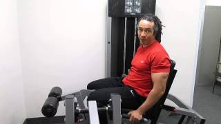 How to use the leg extension leg curl machine