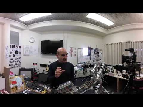 360° video: Interview with Stelarc, artist, Perth, Western Australia, 17 October 2017 (Part 1)