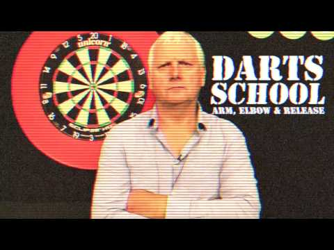 "LEARN HOW TO PLAY DARTS | Rod Harrington explains the ""Arm, elbow and Release"""