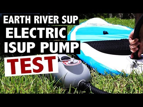 """Inflating a 10'7"""" iSUP to 15 PSI with the Earth River SUP Electric Pump"""