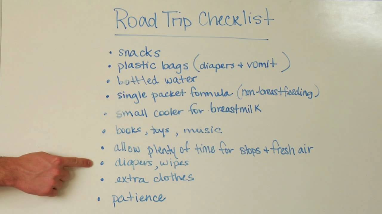 Infant & Toddler Care : How to Take a Road Trip With a Baby