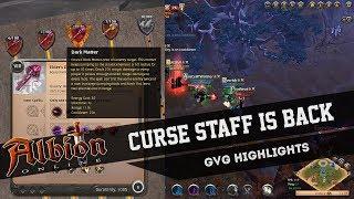 Rank 1 Curse Staff Returns -- Dark Matter OP (Albion Online GvG Highlights)