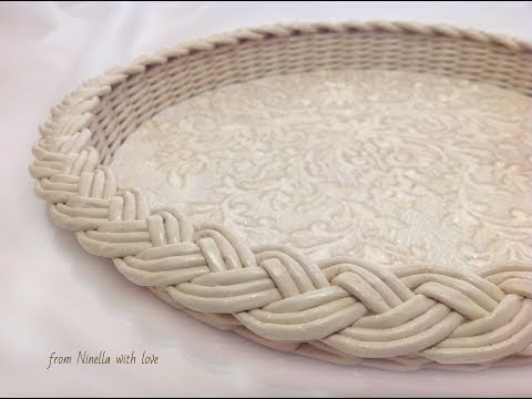 【DIY#32】📰Newspaper Weaving Tutorial・🍮Classical Style Tray・Плетение из Газет・Мастер Класс с Ниной