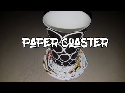 Paper Coasters || A simple DIY with paper