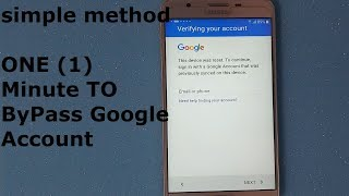 Simple Way To Bypass Google Account Verification (New)