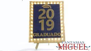 Letrero de Graduación con Luces y Película
