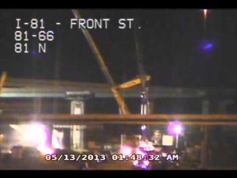 I-81/22/322 Interchange Timelapse Video Following Tanker Fire -- Exit 66