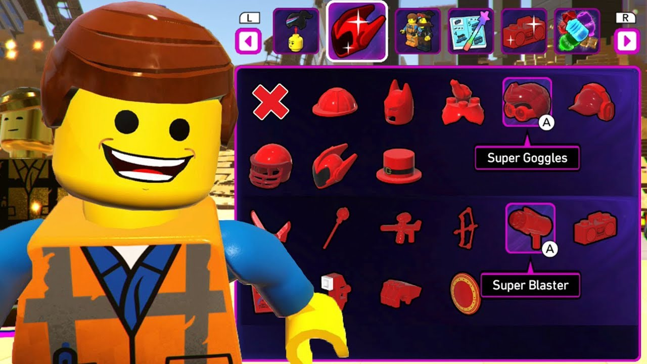 The Lego Movie 2 Videogame All Super Parts Super Items Youtube