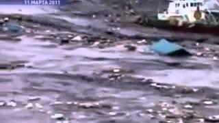 Это -  не фильм ужасов!  Это ужас в жизни -  цунами в Японии!!!