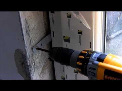 How To Fit  Upvc Door And Frame. Squaring Frame