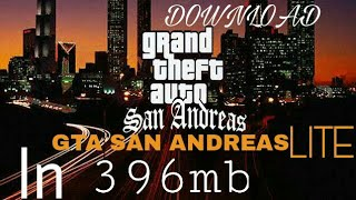 How to download GTA San Andreas lite mod version in Hindi in 396 mb