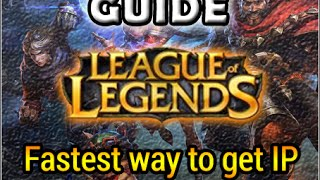 [League of Legends] Guide: Fastest way to get IP in LoL (2015)