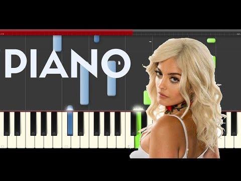 Bebe Rexha Comfortable Kranium Piano Midi Tutorial Sheet App Cover Karaoke