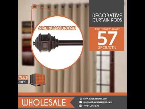 Wholesale Decorative Curtain Rods at Surplus Stores Dubai