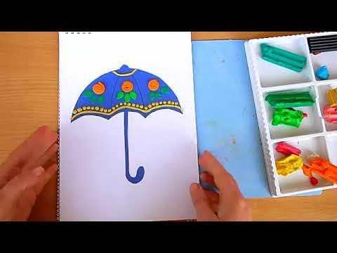 3 клас. Мистецтво. Робимо орнамент на парасольці пластиліновим рельєфом