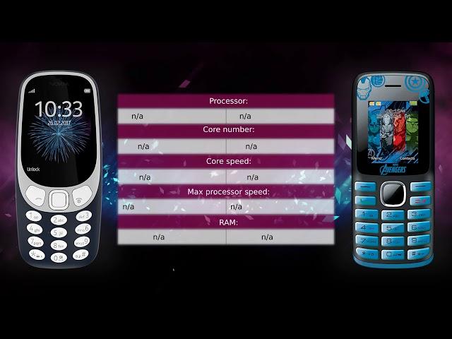 Nokia 3310 vs Lexibook Avengers - Phone comparison