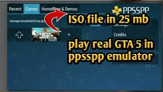 GTA 5 in ppsspp emulator for Android
