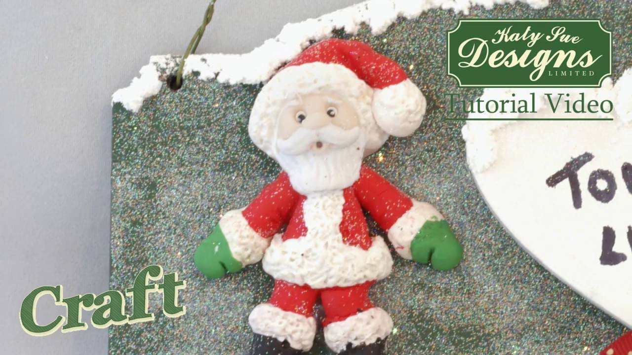 Sugar Buttons Father Christmas character made with air drying clay ...