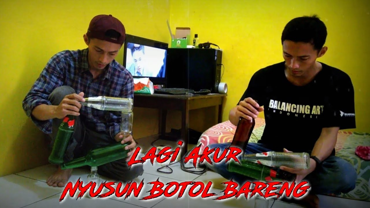 Seni menyusun botol || Blancing art indonesia
