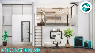 Snowy Holiday House NoCC Mt Komorebi The Sims 4 Stop Motion