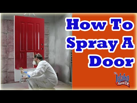 How to spray a front door painting a door with an airless for How to spray paint doors