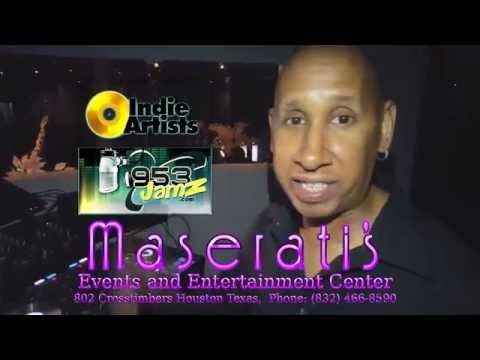AHYONZ Feat Kenya C LIVE at Maserati's in Houston TX - V-Wurld TV & Radio