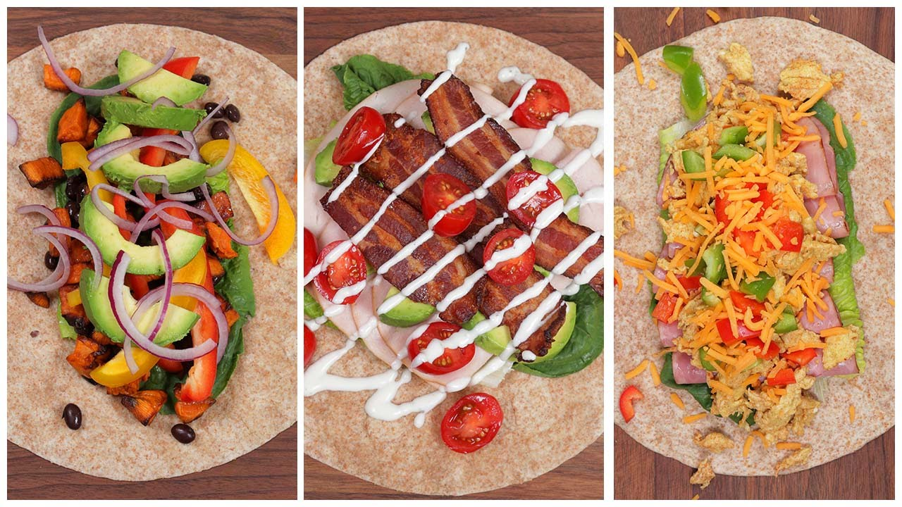 5 Protein Packed Lunch Wraps
