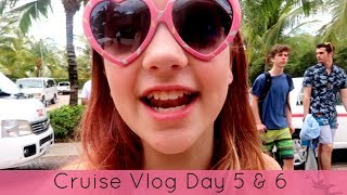Cruise Vlog Day 5 & 6 2017 - Cozumel Beach then home to Texas
