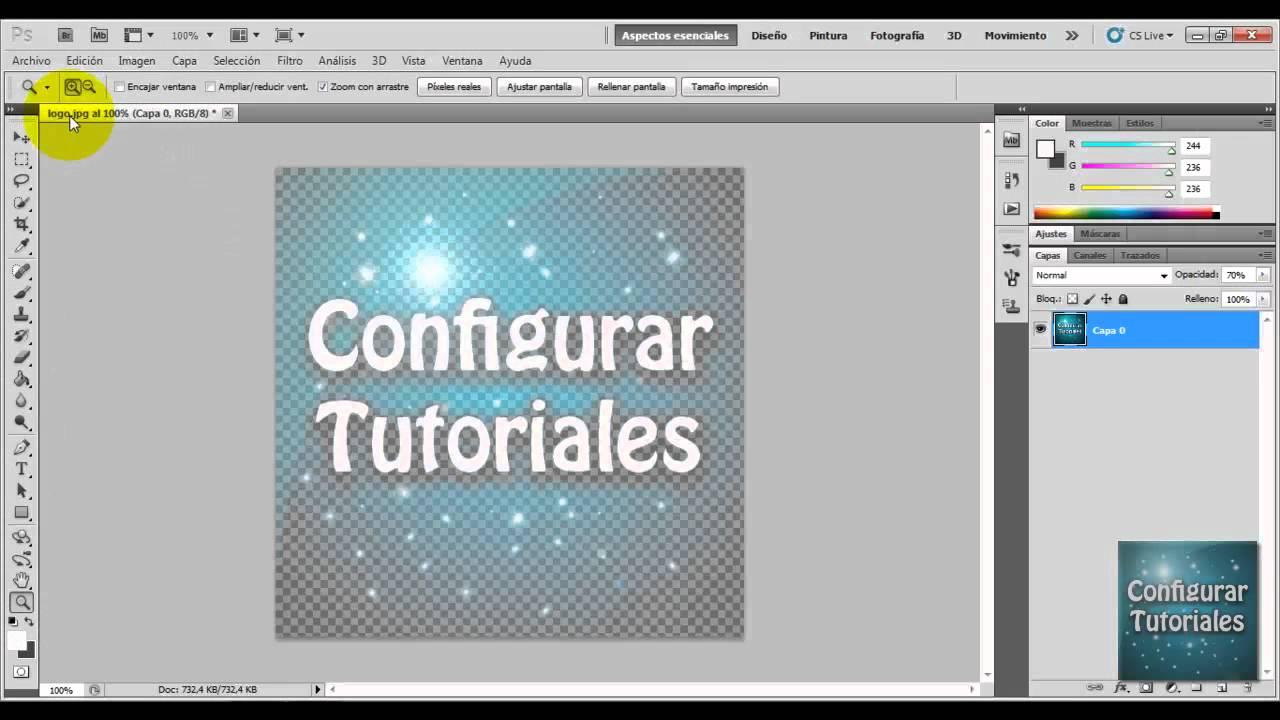 Tutorial Photoshopcrear Marca De Agua A Partir De Un Logo Youtube