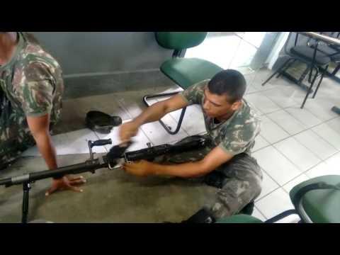 Metralhadora FN MAG 7,62 montagem e desmonstagem .