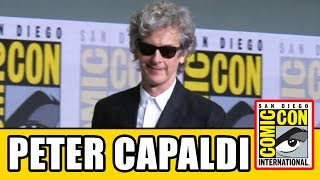 Doctor Who's Peter Capaldi Gets Standing Ovation & Gives Speech At Comic Con Panel