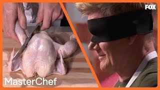 Gordon Shows Off His Chicken Cutting Skills | Season 10 Ep. 5 | MASTERCHEF