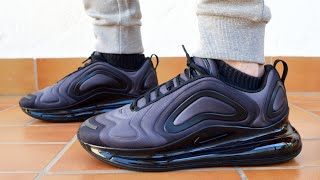 new style 9e0e4 73e8f Nike Air Max 720 Black Unboxing and on Feet Review