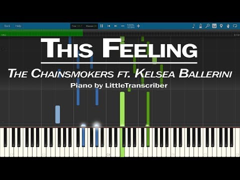 The Chainsmokers - This Feeling (Piano Cover) ft Kelsea Ballerini Piano Tutorial - LittleTranscriber