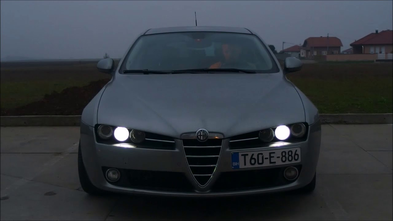 alfa romeo 159 drl test youtube. Black Bedroom Furniture Sets. Home Design Ideas