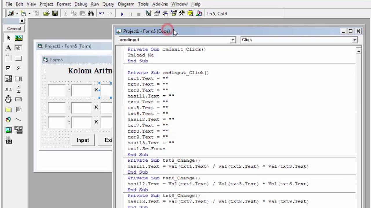 Latihan Soal 3 Pemrograman Visual 1 Bsi Semester Iii Youtube
