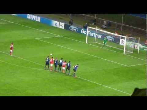 Braga's penalty shot agains Manchester United 7.11.2012